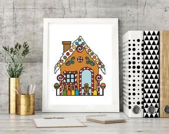 Christmas Cross Stitch Pattern PDF ~ Instant Download