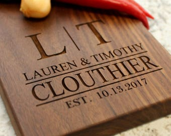 Personalized Cheese Board - Engraved Cheese Plate, Cutting Board, Wedding Gift, Housewarming, Anniversary, Gift for Couple W-009 GB