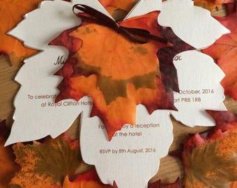 Fall invite - Wedding invitations - Autumn Leaves Invitation - Fall wedding - Autumn wedding - Rustic wedding - leaves