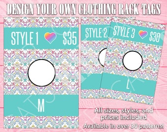Clothing Rack Tags   Lace   Customize