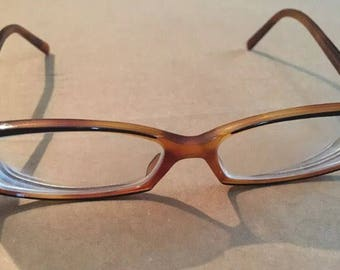Versace rectangular made in Italy Eyeglass Frames