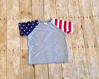 Patriotic shirt // red white and blue shirt // 4th of July shirt // baby shirt // toddler shirt