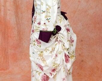 Historical Victorian Bustle Day dress Custom Sized