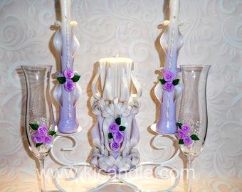 carved candles set