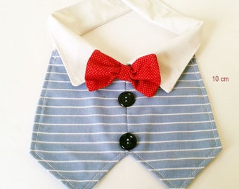 Dog, Cat Tuxedo Vest, bow tie, neck 8""