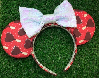Heart-Cream Bar Mouse Ears
