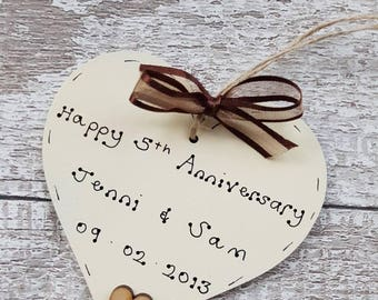 Personalised 5th wedding anniversary gift | 5th wedding anniversary gift | gift for 5th wedding anniversary | 5th anniversary gift