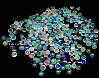 10 pieces 3mm Ethiopian Opal cabochon round gemstone AAA++ Quality Natural Ethiopian Welo Opal round cabochon gemstone calibrated size opals