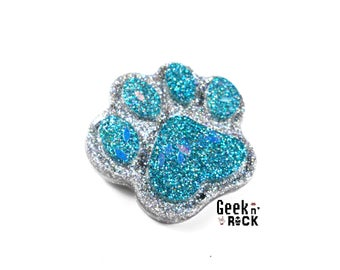 Brooch cat paw / kawaii glitter Paw Paw dog cat dog paw