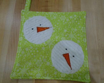Snowman Hot Pads,Christmas Hot Pads,Hot Pad,Hot Pads,Christmas,Christmas Pot Holders,Pot Holders,Pot Holder, Christmas Kitchen,Snowman