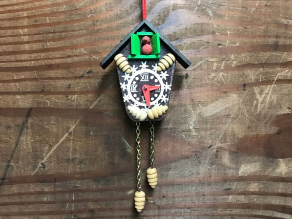 intage Cuckoo Clock Ornament by Steinbach