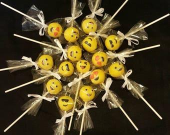 Emoji cake Pops (Order of 60) Buy big, Save money!