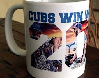 Chicago Cubs Coffee Mug, Cubs Mug, World Series 2016, Cubbies Baseball, Chicago Baseball