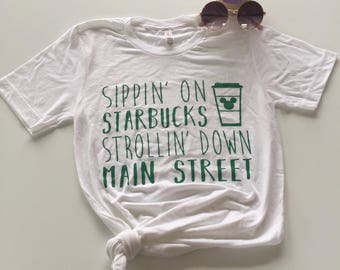 PREORDER Aug 31 Ship Date//Starbucks and Disney//Disney Shirt//Starbucks Shirt//