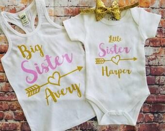 Big Sister/ Little Sister shirt Set,