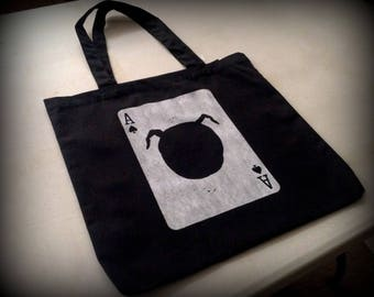 Mr. C's Ace of Spades - screenprinted canvas tote bag by PopShocked