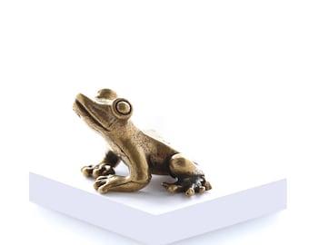 Miniature Brass Frog