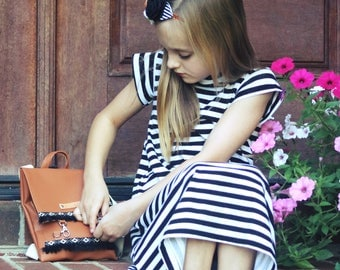 Classic stripe dress - girls aline dress - basic summer dress - basic tshirt dress - aline dress - tshirt dress - striped dress -  nautical