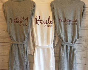 Personalised Wedding Robe (other titles and choice of colours available)