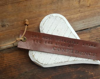 Leather Bookmark,Personalised Leather Bookmarks,Bookmark,Valentine's Gift,Book Lover Gift,Christmas Gift