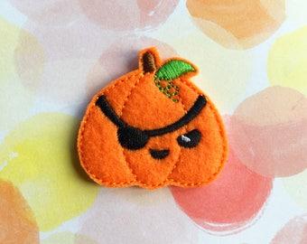 Halloween Felties, Pirate Pumpkin, Fall Felties, Eye Patch