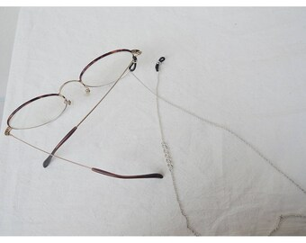 Sterling Silver Chain Sunglasses Strap - Glasses Retainer - Chain Strap - Sunglasses Thin Chain Holder - Eyeglass Chain -  Glasses Keeper