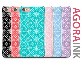 iPhone Case, iPhone 7 Case, iPhone 7 Plus Case, iPhone 6S Case, iPhone 6, Samsung Galaxy Case, Galaxy S8 Case, Galaxy S8+, Diamond Damask