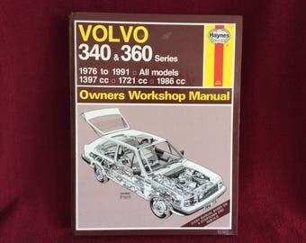 Haynes Owners Workshop Manual Volvo 340 & 360 #715