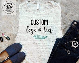 Custom Appareal - Custom Tank -  Muscle Tee - Personalized Tee - Custom Logo Tank - Gift for her - Personalized Tank - Custom Gift - For Her