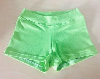 Green booty shorts