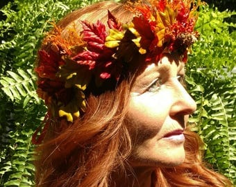 Flower Crown-Autumn- Fairy- Greenman-