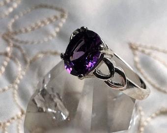 Amethyst Ring, Sterling Silver