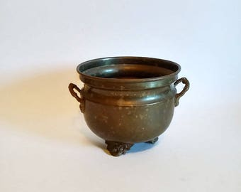Brass and Copper Footed Planter