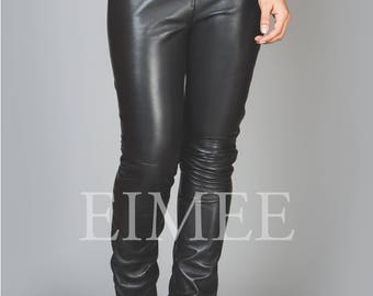 Luxurious Leather Leggings Skinny Fit