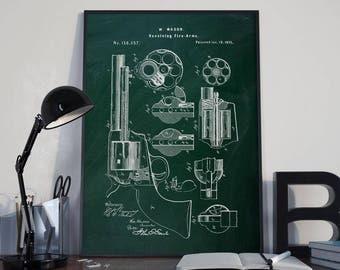 Colt Peacemaker Pistol Gun Framed Patent Art Print Gift