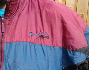 Awesome Vintage 80's / 90's Bodyline by Brooks Pastel Purple Blue Black Windbreaker large