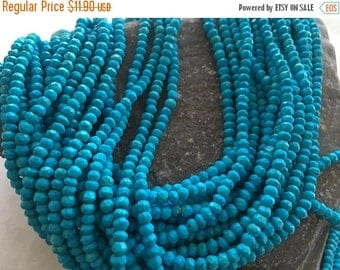 Exclusive Quality Turquise Micro faceted Roundell 3 - 3.50 mm approx , 14 inch strand