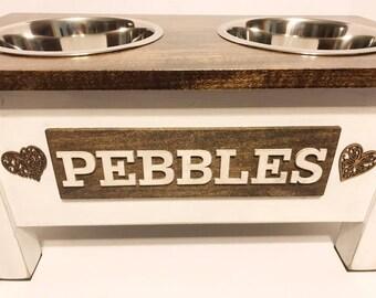 Dog Bowl,Rustic Pet Feeder, Personalized Dog Bowl, Raised Dog Feeder, Elevated Dog Feeder, Dog Feeding Station, Dog Dish , Pet Supplies