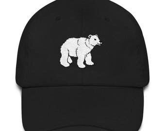 Polar Bear Cub Embroidered Dad Hat Antarctica Gift for Him or Her