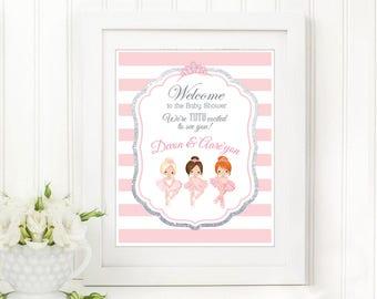 Welcome - Girl Baby Shower Invitation, Tutu invitation, Ballerina Baby Shower invitation, Tutu Baby Shower Invitation