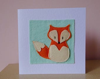 fox card, thank-you card, fox birthday card, friend thank-you, cute fox card, animal lover card, get well soon card, friend birthday