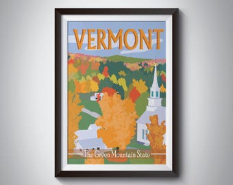 Vermont | Travel Poster | Instant Download