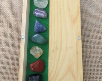 7 CHAKRAS SET - Tumble stone - Crystal healing-box set of 7 chakras- Gem therapy -Reiki- meditation- perfect for gift