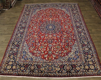 Fantastic Handmade Semi Antique Najafabad Persian Area Rug Oriental Carpet 9X14