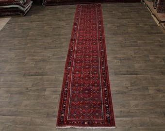 Stunning Allover Palace Runner Hossainabad Persian Rug Oriental Area Carpet 3X17