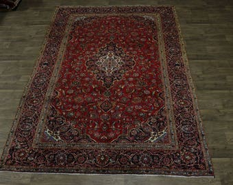 Beautiful Traditional S Antique Red Kashan Persian Area Rug Oriental Carpet 8X11