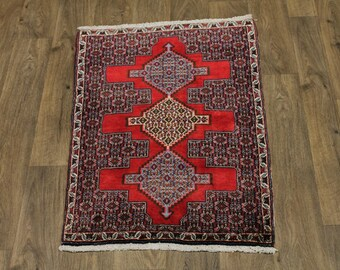 Excellent Hand Knotted Plush Bidjar Persia Wool Rug Oriental Area Carpet 2'5X3'5
