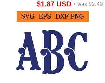 Sale 25%  -  Curly Monogram Svg / Eps / Dxf / Png files INSTANT DOWNLOAD!