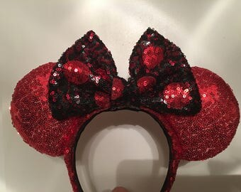 Lipstick Red Minnie Mouse Ears
