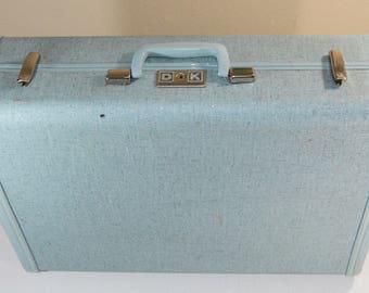 "Vintage Royal Traveller Blue Suitcase Shwayder Bros Luggage 21"""